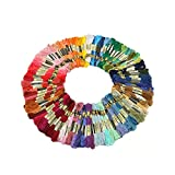 Lifespark Embroidery Floss Sewing Threads, 100 Skeins of 8M Embroidery ...