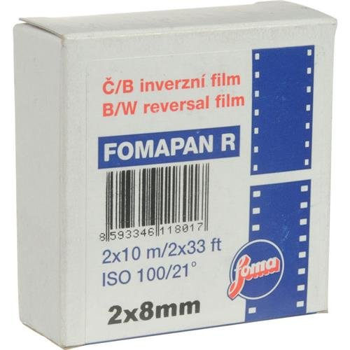 Foma Fomapan R100 Black & White Reversal Film, 2x8mm, Double 8 Standard 10 meters