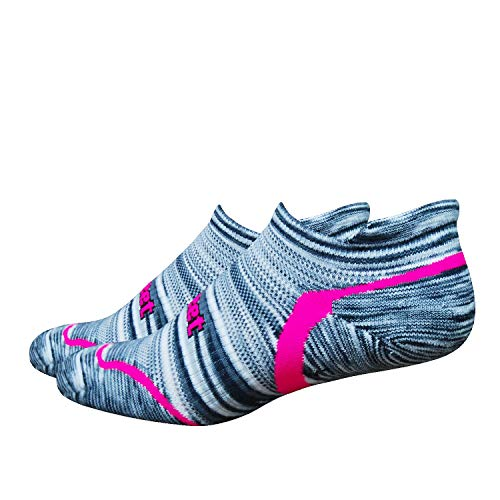DEFEET Devo Tabby Urban Space Dye Hi-Vis Socks, Pink, Small