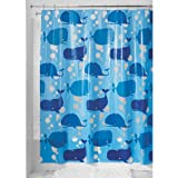 InterDesign Novelty EVA Shower Curtain, 72-Inch by 72-Inch, Blue