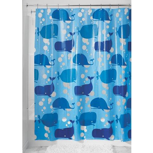 InterDesign Novelty EVA Shower Curtain, 72-Inch by 72-Inch, Blue by InterDesign