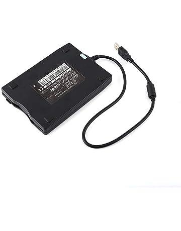 ASHATA 3.5in Unidad de Disquete Externa USB,Unidad de Disco Portátil 1.44MB FDD