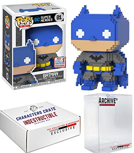 Funko Pop! NYCC DC Comics 8-Bit Batman, Limited Edition Fall Convention Exclusive, Concierge Collectors Bundle ()