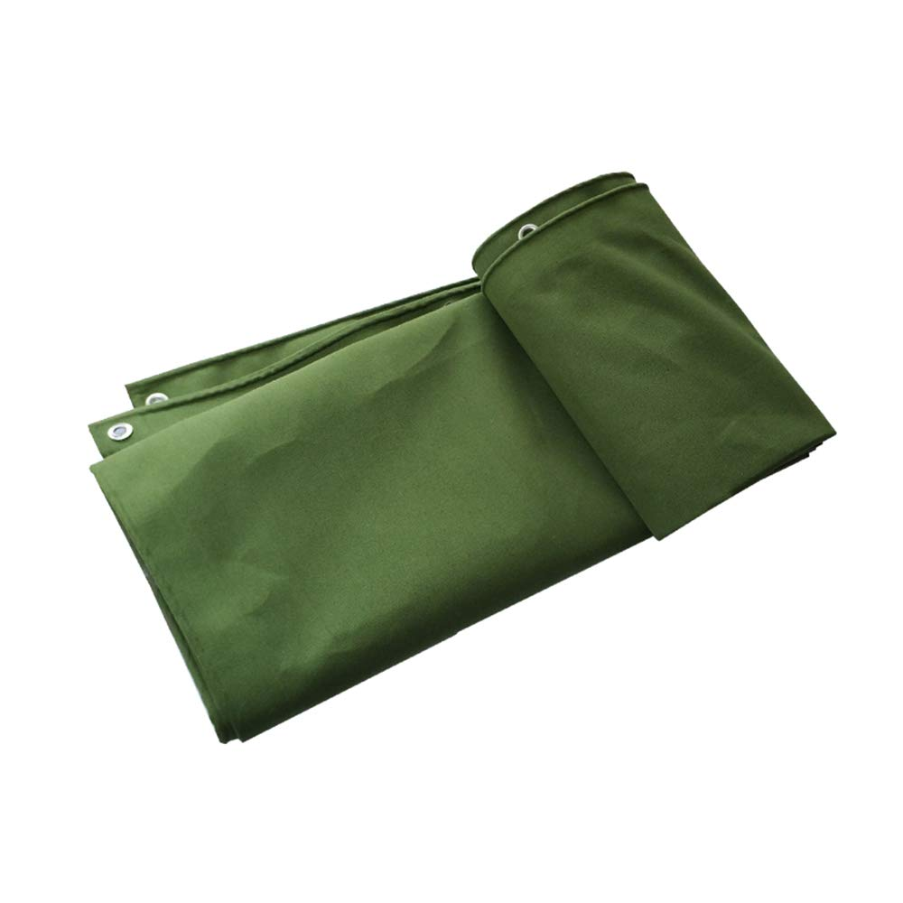 YNN - ターポリン 軽量厚い耐摩耗防水キャンバスターフトラックターポリン絶縁防水布、400g /m²の厚さ0.7mm (色 : Green, サイズ さいず : 6*10m) 6*10m Green B07KKCQCYW