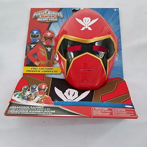 Power Rangers Super Megaforce Costume RED Childs Size (Red Power Ranger Megaforce Costume)