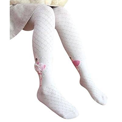 Collants bébé fille, collants élastiques longues Leggings en coton chauds collants pleine longueur