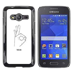 Paccase / SLIM PC / Aliminium Casa Carcasa Funda Case Cover para - Ok Hand Signal Signing White Black Minimalist - Samsung Galaxy Ace 4 G313 SM-G313F