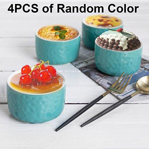 Ceramic Ramekins Set, Krokori 8 oz Ceramic Baking Souffle Di