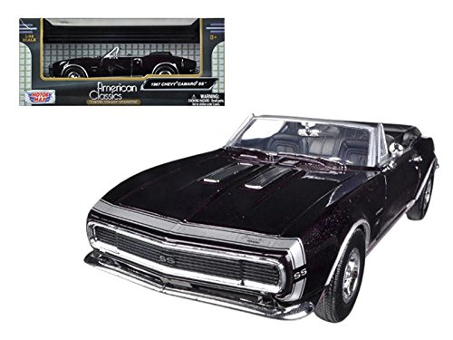 Motormax 73301 1967 Chevrolet Camaro SS Convertible Burgundy 1/24 Diecast Car Model ()