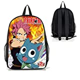 Dreamcosplay Anime Fairy Tail Natsu Happy Logo Backpack Student Bag Cosplay