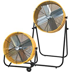 MAXXAIR BF24TF2N1 YEL 24-Inch 2-In-1 High Velocity Air Movement Portable Air Circulator, Yellow