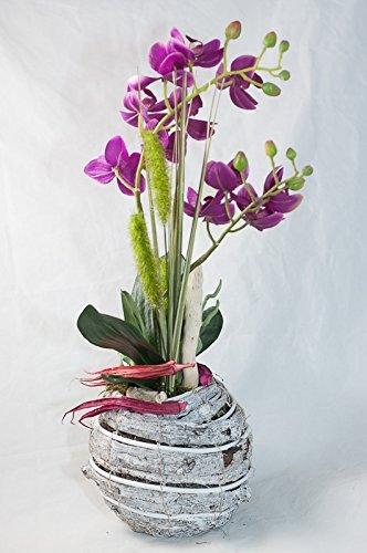 Phalaenopsis Im Weissen Rindentopf Gesteck Tischdeko Mit