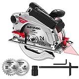 Circular Saw, Meterk Circular Saw (1500W 4700RPM), Cutting 65mm...