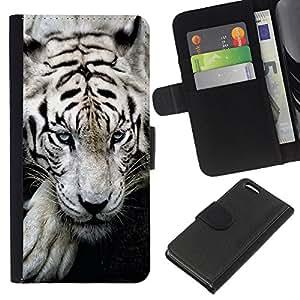 """Be-Star la tarjeta de Cr¨¦dito Slots PU Funda de cuero Monedero caso cubierta de piel Para Apple iPhone 5C ( Tigre so?oliento lindo feroz animal"""" )"""