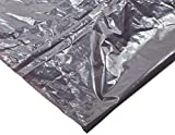 Webster WBIPLA3770 Super Heavy-Duty Liners, Resin, 30 gal, 36'' x 30'', 1.35 mil (34 µm) Thickness, Gray (Pack of 100)