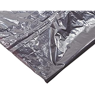 """Webster WBIPLA3770 Super Heavy-Duty Liners, Resin, 30 gal, 36"""" x 30"""", 1.35 mil (34 µm) Thickness, Gray (Pack of 100)"""