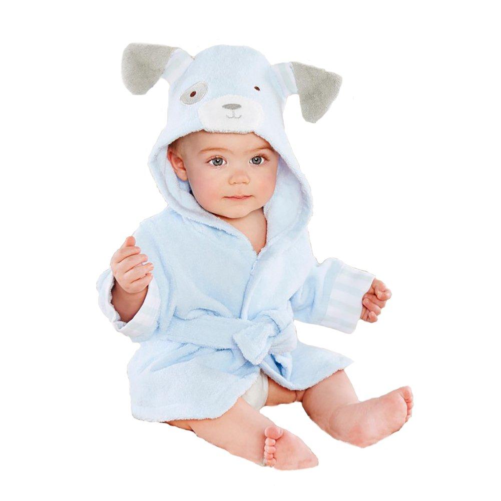 Tiermuster weiche mit Kapuze Badem/äntel Baumwollt/ücher f/ür Baby 0-6 Jahre Kinder Baby Jungen//M/ädchen Badem/äntel Baby Bademantel mit Kapuze
