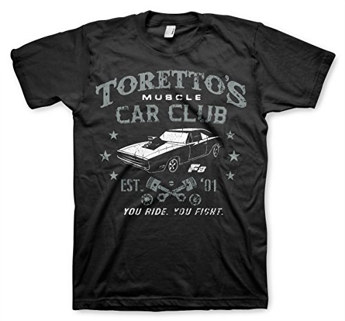 Officially Licensed Toretto's Muscle Car Club T-Shirt (Black), X-Large]()