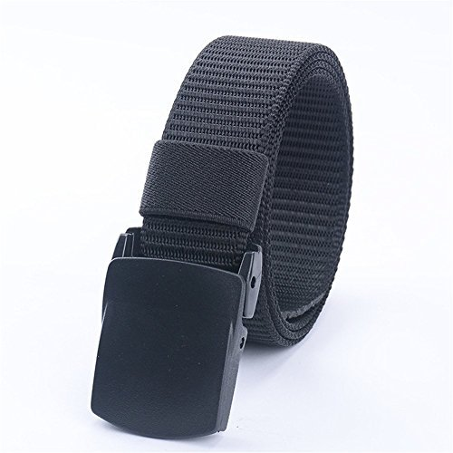 JasGood Nylon Canvas Breathable Quick-Drying Military Tactical Style Adjustable Waist Web Men Belt With Plastic Buckle (Designer Style Belt Buckle)