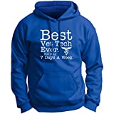 Plus Size Vet Tech Gifts Best Vet Tech Ever But Only 7 Days a Week Premium Hoodie Sweatshirt 3XL Royal