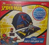 Marvel Spider-Man Kids Explorer Camp Kit Tent Pillow Sleeping Bag Indoor Outdoor 4+ Yrs.