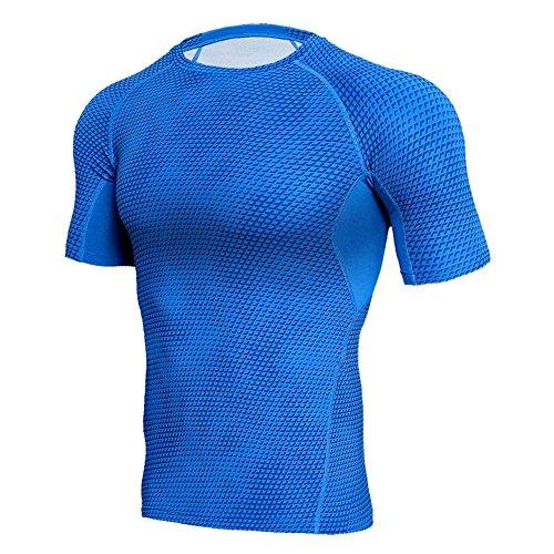 스포츠 셔츠 맨즈 반소매 Compression 웨어 냉감초경량 가압 셔츠 트레이닝 흡한 속건 이너 자세 교정 스포츠 웨어 S~3XL