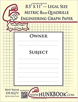 engineering graph paper 570pages cream metric 8mm quadrille