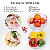 Reusable Mesh Produce Bags-Washable Eco-Friendly Premium
