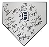 Detroit Tigers 2018 Team Autographed Signed Baseball Home Plate - 17 Autographs