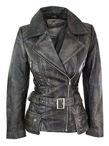 Veste Trench femmes mi-longue véritable cuir Designer marron noir vert bleu  sarcelle rouge  Amazon.fr  Vêtements et accessoires 25eff5cd58e7