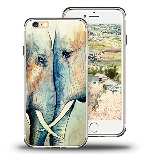 iPhone 6s Case, iPhone 6 Case Viwell TPU Soft Case Rubber Silicone Watercolor - Iphone 6 Chanel Case From