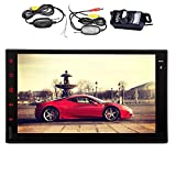 Android 4.4 OS 7 Inch NO-KEY FULL TOUCH Tablet Car Stereo GPS Navigation 2 Din Car Radio Video Player In Dash Car Monitor Bluetooth Quad Core WiFi Support external microphone