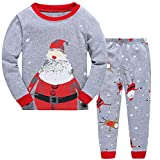 Children Kids Christmas Pyjamas Sets Baby Boys Girls Cotton Pjs Xmas Sleepwear T Shirts Tops & Pants Pajamas Sets Nightwear Homewear Outfit Age 2 to 8 Years
