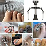 Vanvler Professional Ingrown Toe Nail Correction Tool Pedicure Toenail Fixer Foot Nail Care (Silver)