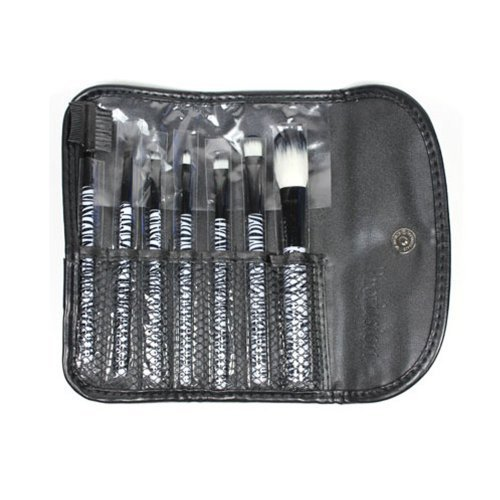 7 Pcs Zebra Brush Set Kit Make up Cosmetic + Free Earring Gift by Profusion