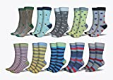 3KB Men's Dress Socks (10 Pairs Per Pack) - Variety of Patterns and Sizes (12-15, Summer Collection)