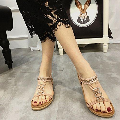 Chanclas cn39 Tacón Verano Colores Duo De uk6 Diamante Zapatos 2 Tamaño Eu39 color 1002 Con Sandals Elegante Shoes Alto Moda Cool 1001 dcRSWR