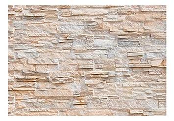 Wandtapete klebend Fototapete selbstklebend Steinoptik 392x280 cm Klebefolie murando Dekofolie decor Tapeten Tapetenfolie Steintapete Steine Stein Mauer Steinoptik 3D f-C-0164-a-b