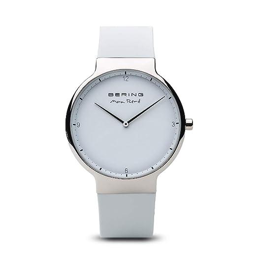 BERING Reloj Analógico para Hombre de Cuarzo con Correa en Silicona 15540-904: Amazon.es: Relojes