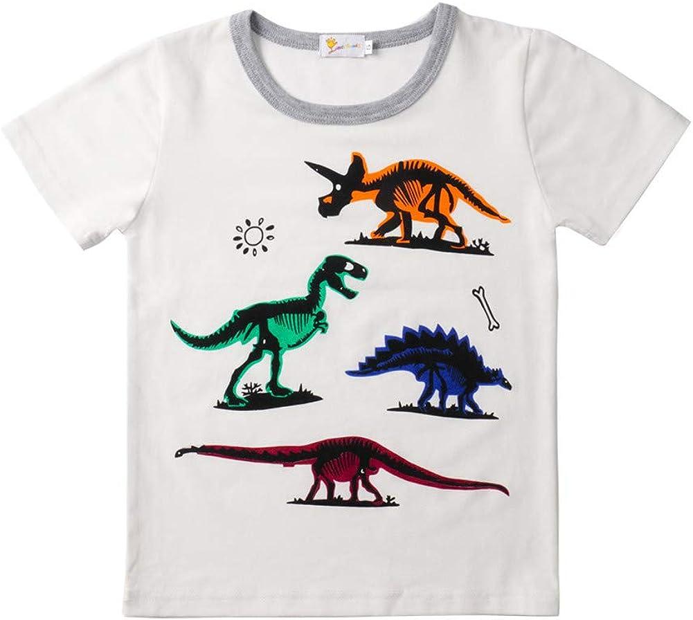 Kinder Zweiteiliger Schlafanzug Kurze /Ärmel,Morbuy M/ädchen Junge Karikatur Drucken Zweiteiliger Schlafanzug Baumwolle Kinder Kurze /Ärmel Kurze Hose Pyjama