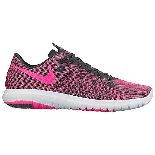 Nike Frauen Flex Fury 2 Laufschuh Dunkelgrau / Weiß / Pink Explosion