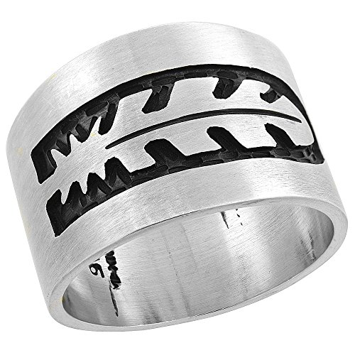 - Sterling Silver Native American Design Feather Ring, size 12