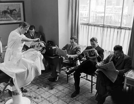 Photo Hotel Northampton Barber Shop MA 1937