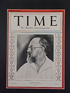 Henri Matisse October 20, 1930 Time Magazine Professionally Matted Cover
