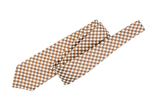 Tom Ford Copper Check Silk Skinny Neck Tie by Tom Ford..