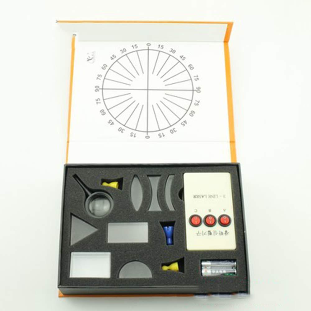 GOOG Physical Optics Experiment Set Triangular Prism Lights Convex Concave Lens Set Child Gift Toy Science Equipment