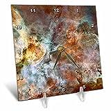 3dRose dc_76816_1 Galaxy & Nebula Eta Carinae Nebula by Nasa Hubble Telescope Desk Clock, 6 by 6″ Review