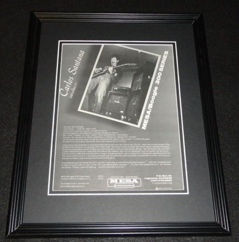 (Carlos Santana 1981 Mesa Boogie Amplifier Framed 11x14 ORIGINAL Advertisement )