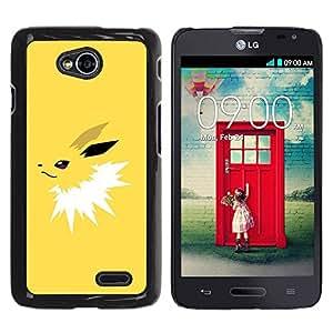 PC/Aluminum Funda Carcasa protectora para LG Optimus L70 / LS620 / D325 / MS323 Yellow Poke / JUSTGO PHONE PROTECTOR