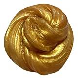Banstore Kids Fluffy Floam Slime Putty Durtend 60ml Scented Stress Relief Kids Clay Toy (Gold)